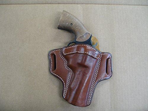 Ruger Security Six Revolver 4 Barrel Leather 2 Slot Pancake Belt Holster TAN CCW RH