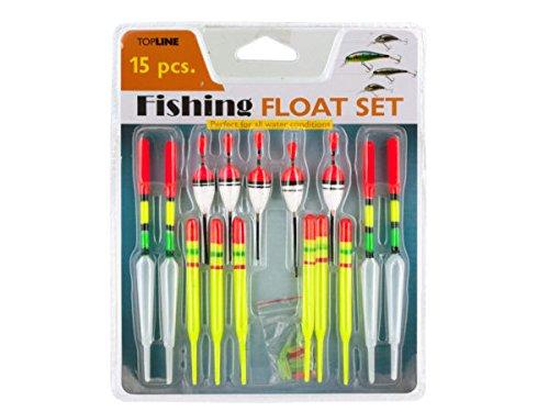 bulk buys GR118 Neon Fishing Floats Set Black White Yellow Green Red