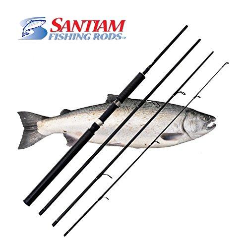 Santiam Fishing Rods 4 Piece 96 6-15lb Graphite Travel SpinningFloat Rod