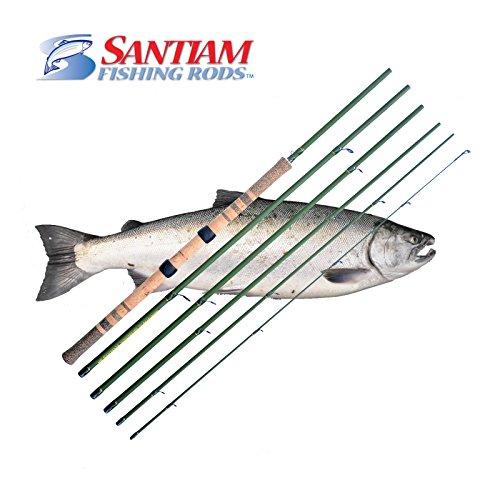 Santiam Fishing Rods 6 Piece 136 8-12lb Centerpin Travel Float Rod