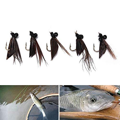 5Pcs Elk Hair Caddis Fly Trout Fishing Dry Flies Fly Fishing Lures Fake Bait