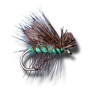Elk Hair Caddis - Bright Green Fly Fishing Fly