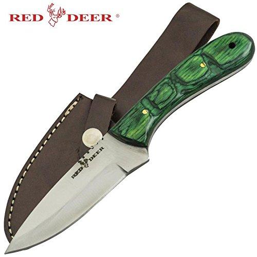 Red Deer Hunting Knife Green Pakka Wood Handle Hunting Knife