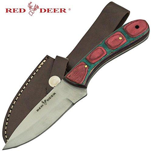 Red Deer Multicolored Pakka Wood Handle Hunting Knife Big Game Hunter Hunting Knife W Case