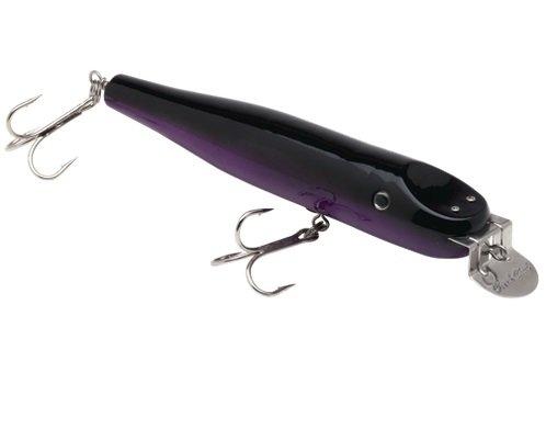 Creek Chub Wooden Lures Black Back Purple 8-Inch