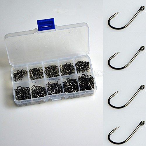 500pcs Small Size Black Freshwater Fishhook Fishing Hooks Set
