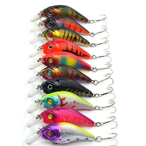 Aorace 10pcslot Minnow Fishing Lure Crank Bait Hooks Bass Crankbait Tackle 75cm102g Isca Artificial Para Pesca Hard Bait