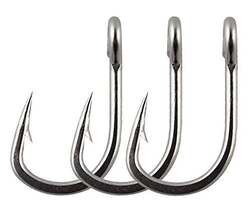 JSHANMEI Fishing Hooks Stainless Steel Saltwater Fishing High Strength 3X Stronger Jig Bait Fish Hooks