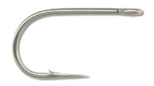 Mustad Classic Hollow Point SalmonSiwash Hook Pack of 50 Stainless Size 70