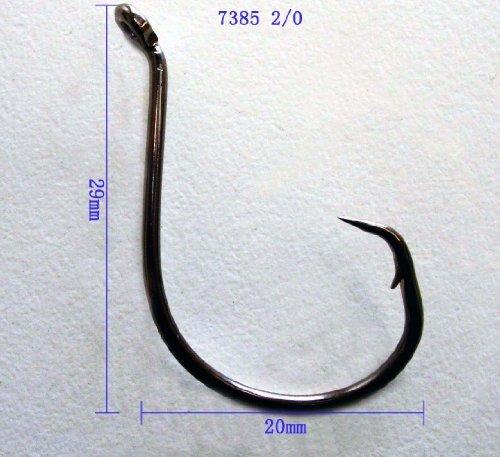 Octopus Circle Hooks Size 20 QTY 50 PCS Chemically Sharpened