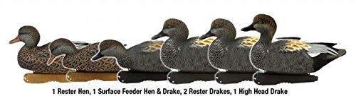 Greenhead Gear Pre-Rigged Pro-Grade Duck DecoyGadwall4-oz Texas Rig12 Dozen