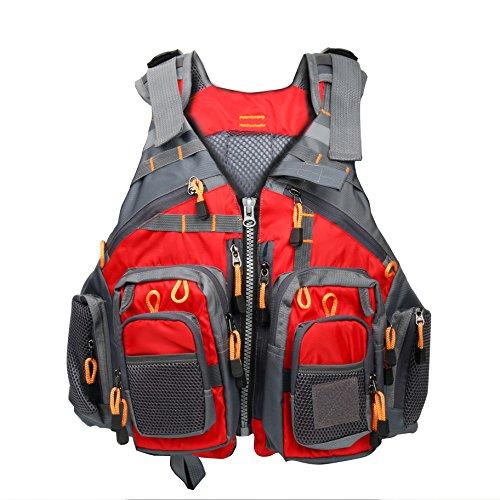 Amarine-made Fly Fishing Vest Pack Fishing Vest Fishing Sling Pack Fishing Backpack Red