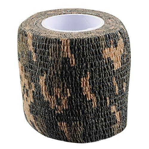 TORNADO Camouflage Tape Self-Adhesive Camo Wrap Tape Cling Scope Wrap Military Camo Multifunction for Gun Rifle Shotgun Camping Hunting