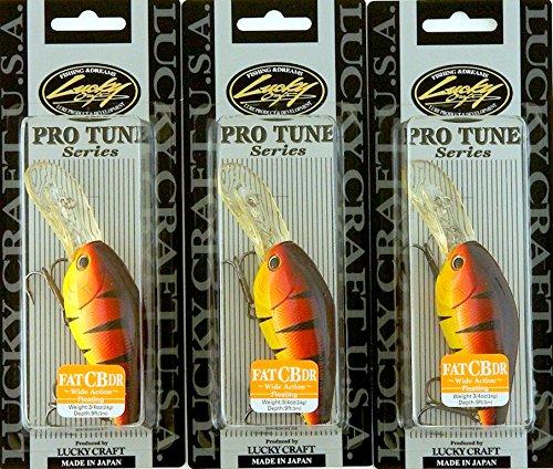 Bundle - Set of 3 Lucky Craft Fat CB DR 34OZ FATCBDR-082 Fire Tiger C3