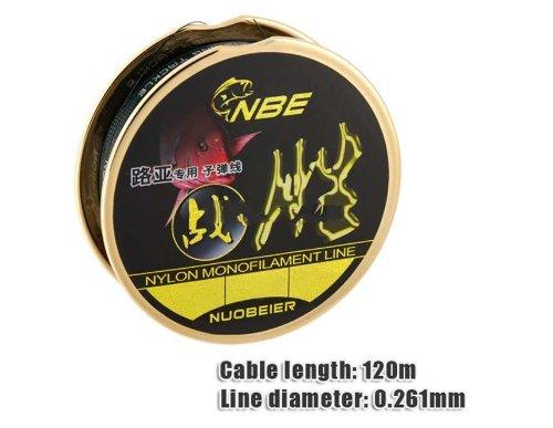 25 0261mm 120m Lure Nylon Monofilament Fishing Line Black Produced by YSK