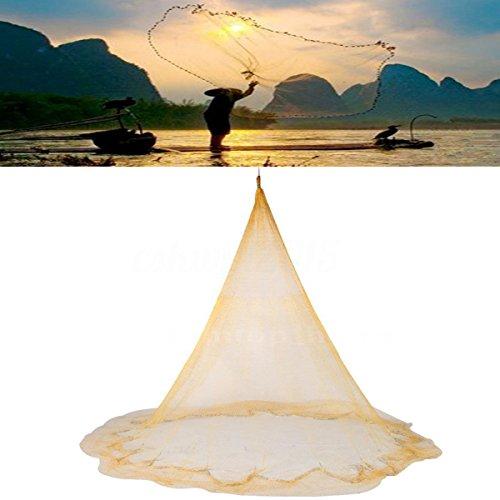 25 x 35m Big Fishing Nylon Monofilament Fish Gill Net Easy Throw For Hand Cast