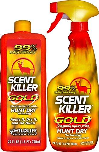 Scent Killer 1259 Wildlife Research Scent Killer Gold 2424 Combo 48 oz