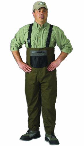 Caddis Mens Green Natural Breathable Stocking Foot Wader Medium Stout