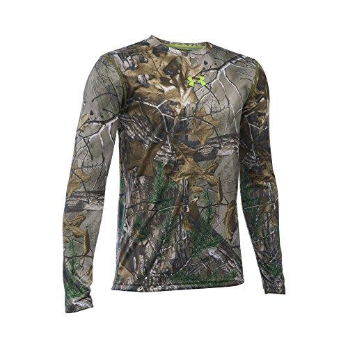 Under Armour Boys Tech Scent Control Long Sleeve T-Shirt Realtree Ap-XtraVelocity Youth Medium