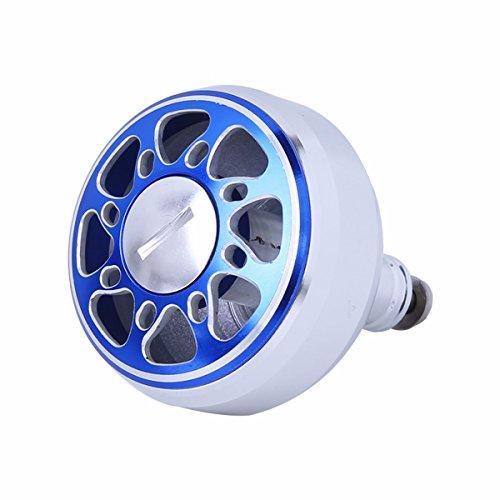 Freebily Replacement Power Handle Ball Knob Full Metal Saltwater Spinning Fishing Reel Fishing Vessel Knob Blue 38MM