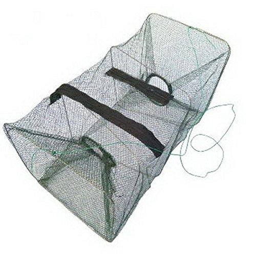 ASDOMO Foldable Fishing Net Trap and Dip Drift Shrimp Net Cage Crab Trap Crawfish Lobster Shrimp Collapsible Cast Net green 1pcs
