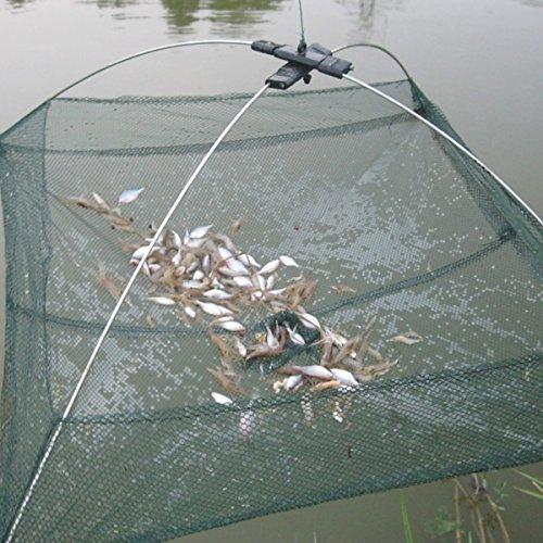 KINGSO Nylon Folding Fish Netting Fishing Net Baits Crab Lobster Shrimp Crawfish Trap Cast Dip Net 236x236 Inch