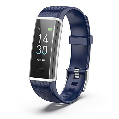 XIAOAN Smart Wristband Bluetooth Waterproof Heart Rate Calorie Sleep Monitor Pedometer GPS Tracker Fashion for AndroidiOS UnisexBlue