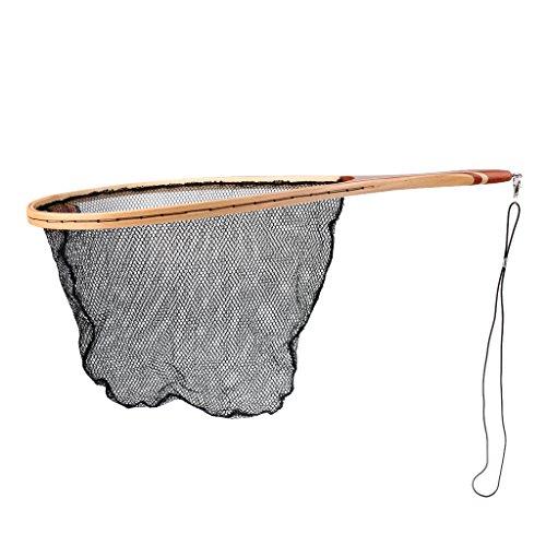 MonkeyJack Vintage Frame Carp Trout Fly Fishing Landing Net Fishing Net Mesh Catch Tackle Fishing Accessories