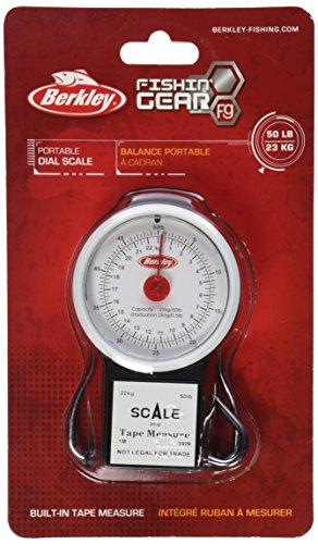Berkley 50-Pound Portable Fish Scale with Tape Measure