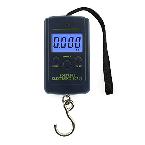 Mini Digital Fish Scale Electronic Portable Spring Hanging Scale for Kitchen Luggage Postal Balance Weight 88lb002lb 40kg10g