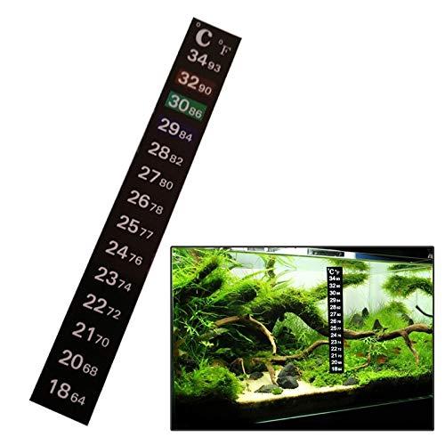 Temperature Gauges - Fish tank thermometer Strip temperature sensitive color temperature stickers Digital fish tank thermometer stickers