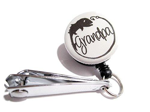 ATLanyards Grandpa Fishing Cutters Grandpa Fishing Line Nippers Grandpa Gift Gift for Grandpa Gray 15