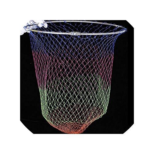 3 Sizes Nylon Fishing Nets Collapsible Fishing Tools Rhombus Mesh Hole Depth Folding Nylon Landing Dip Net