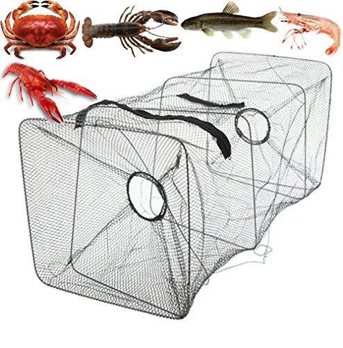 AVGDeals Fishing Bait Trap Fish Net Cast Dip Cage Crab Minnow Crawdad Shrimp Foldable