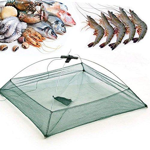 Hofumix Fishing Net Foldable Mesh Baits Trap Umbrella Cast Dip Net Nylon Mesh Trap Cast Safe Catch Landing Net for Fish Shrimp Minnow Crayfish Crab