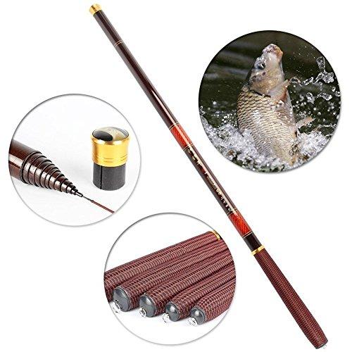 Carbon fiber fishing feeder rod telescopic pole spinning ultra light fish fishing rods stream carp rod 27-72Meter 45
