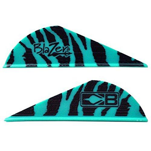 Blazer Arrow Vanes Bohning TealTeal Tiger wLogo Pkg36