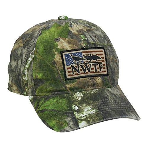 NWTF American Flag Mossy Oak Obsession National Wild Turkey Federation Camo Hunting Hat