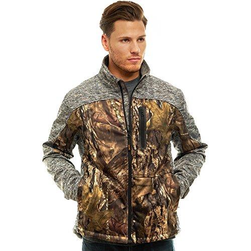 TrailCrest Men's Thermal Softshell Jacket Mossy Oak Camo Patterns