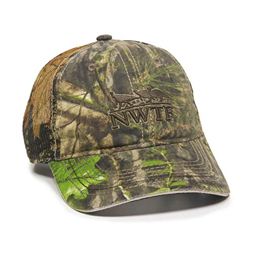 NWTF National Wild Turkey Federation Mossy Oak Obession Camo Mesh Back Hunting Hat