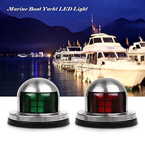 Boat Navigation Lights ONEVER Green and Red Marine Boat Yacht Led Lights Stainless Steel Bow Navigation Lights DC 12V