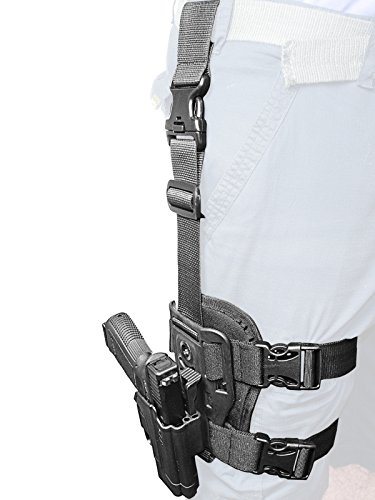 Orpaz Glock Drop-Leg Thigh Holster Level 2 Thumb Release 360 Rotation Tension Adjustment Polymer Tactical Holster