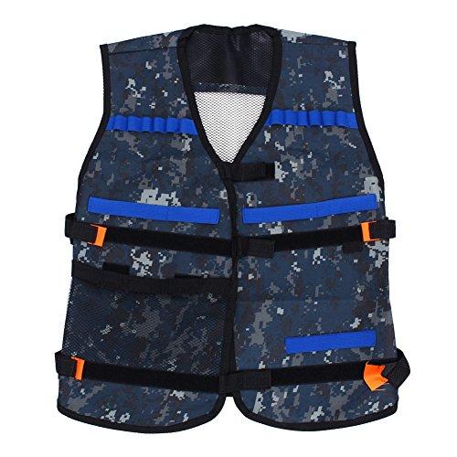 Adjustable Tactical VestCamouflage Tactical Vest Kit with Storage Pockets for Nerf N-Strike Elite Battle Game