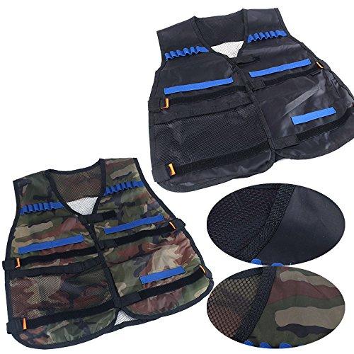 Kids Tactical Vest Kit for Nerf Guns N-Strike Elite Series Black