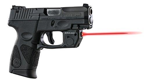 ArmaLaser Taurus PT111 PT140 Millenium G2 TR23 Red Laser Sight with Grip Activation