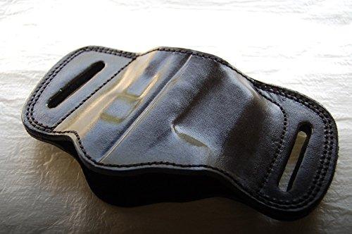 Cal38TG2 Taurus Millenium G2 Leather Belt Slide Holster Black Tan BLACK
