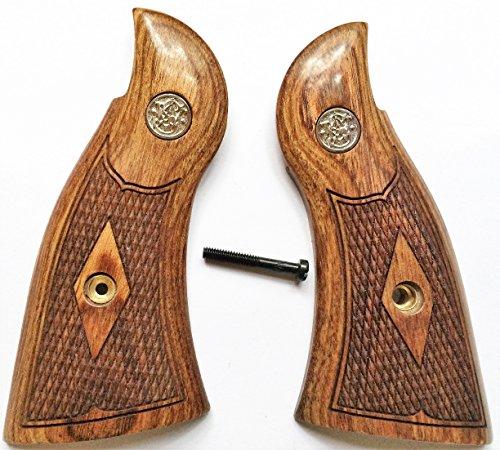 Smith Wesson S&W KL Frame Grips Walnut Checkered