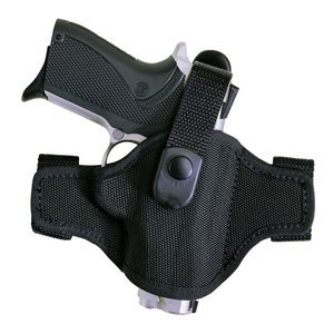 Bianchi Accumold Holster 7506 Black Belt Slide - Size 4 with Thumbsnap S&W K Frame 4 Right Hand