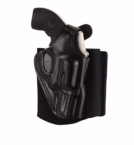 Galco Ankle Glove Holster for S&W J Frame 640 Cent 2 18 Inch 357 RH Black - AG158B
