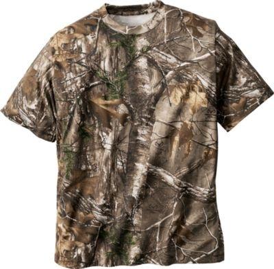 Cabelas Short-Sleeve Mens Camo Tee Realtree Xtra X-Large